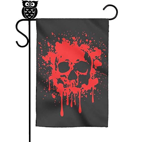 Danas Skull Blood Scary Halloween mask Garden Flag Yard Home Flag 18 x 12.5 inch ()