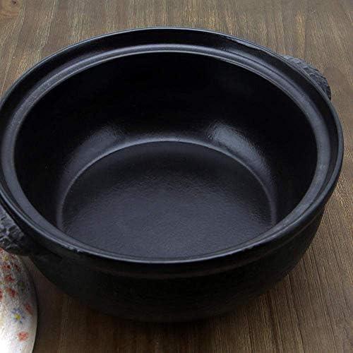 ZJZ Casseroles avec couvercles Pot en céramique Casserole de Cuisson Pot en céramique Surface glacée Lisse sans décoloration 1.1L