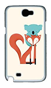 ICORER Top Rated Samsung Galaxy Note 2 Case Fox And Koala Cool Samsung Note 2 Cases PC White Case for Samsung Galaxy Note 2 /SIII /I9300