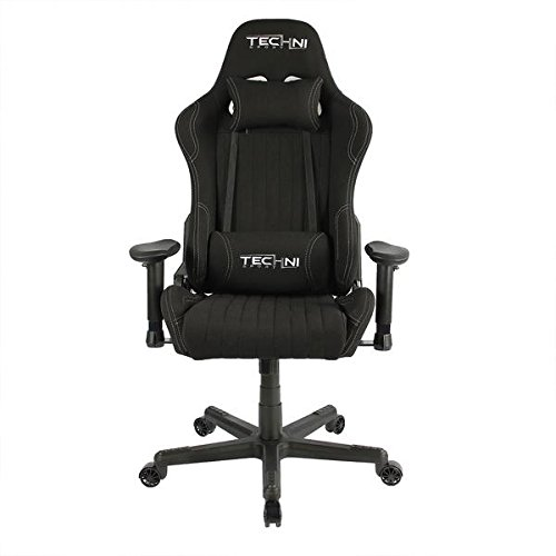 Techni-Sport-TS-44-Fabric-Ergonomic-High-Back-Racer-Style-Video-Gaming-Chair-Color-Black