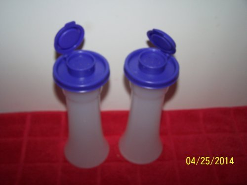 Tupperware Hourglass Salt and Pepper Shaker 6'' Set Berry Bliss Purple by Tupperware