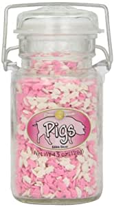 Dean Jacobs Pigs-Glass Jar with Wire, 4.5-Ounce (Pack of 3)