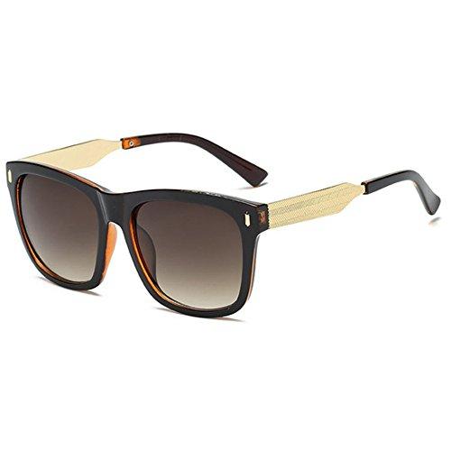 Aoligei Hommes et femmes lunettes de soleil lumineux couleur lunettes carrés rétro pas cher 1pK1n30