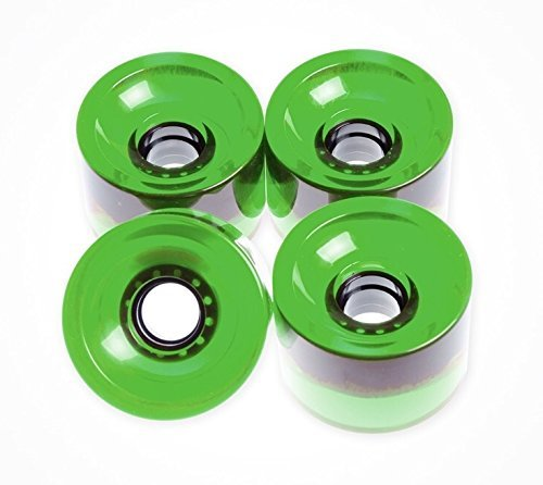 FunBox Skateboards 70mm Skateboard Wheels Longboard Wheels Cruiser wheels Clear Green