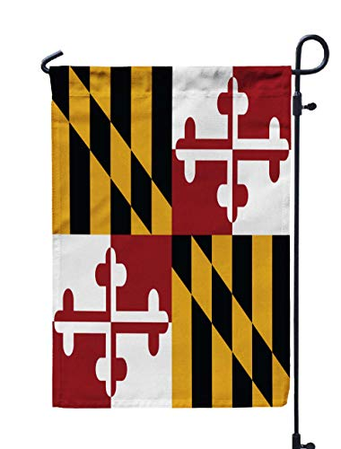 Shorping Thanksgiving Garden Flag, 12x18Inch for Holiday and Seasonal Double-Sided Printing Yards Flags Vector Flag of The United States of America State Maryland Maryland Orig]()
