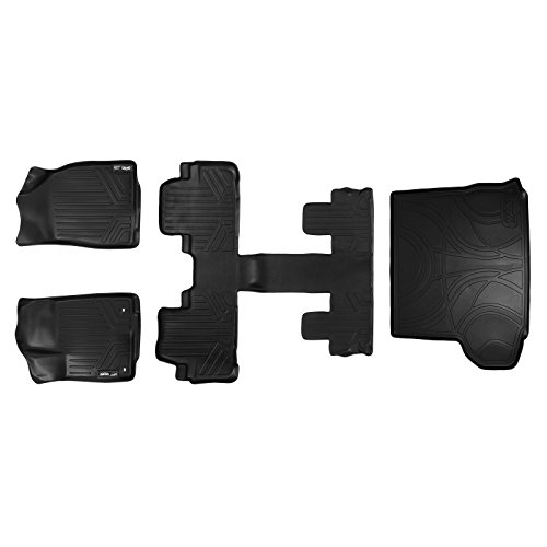 SMARTLINER Floor Mats and Cargo Liner Behind 2nd Row Set Black for 2014-2018 Highlander with 2nd Row Bucket Seats (No Hybrid ()