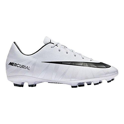 NIKE Youth Mercurial Vapor Xi CR7 FG Cleats [White] (1.5Y) (Mercurial Vapor Cleats)