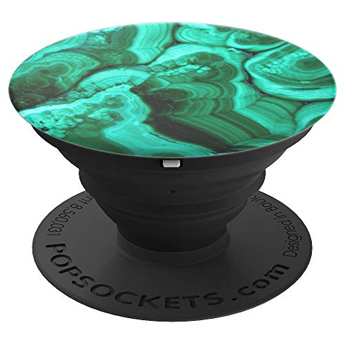 Malachite Gloss - Green mineral pattern - PopSockets Grip and Stand for Phones and Tablets