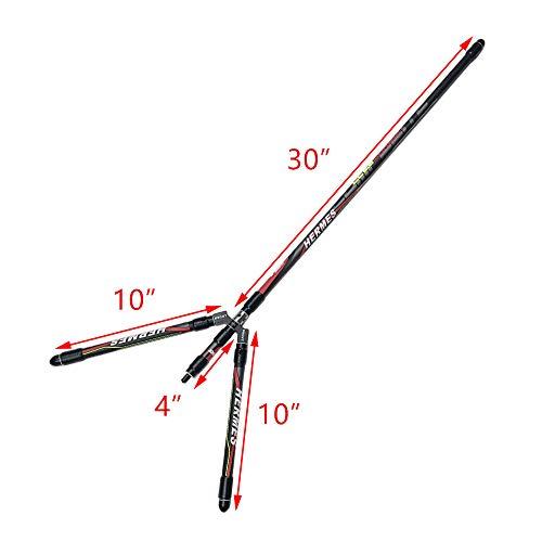 MILAEM Detachable Bow Stabilizer Rod Carbon Bow Balance Bar Rod Bow Stabilizer Weight Vibration Dampener for Compound Recurve Bow (stabilzer-23)