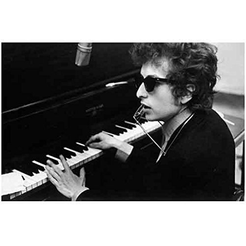 Music 8x10 Photo - Bob Dylan Young Playing Piano and Harmonica 8 x 10 Inch Photo