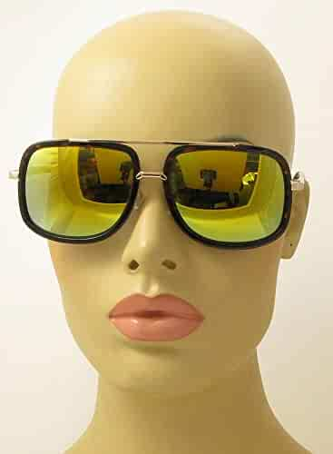 4d6cf2937 AStyles - Large Retro Aviator Sunglasses One Designer Mach Metal Square  Frames