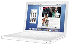 "Apple MacBook MB062LL/A 13.3"" Notebook PC (2.16 GHz Intel Core 2 Duo Processor, 1 GB RAM, 120 GB Hard Drive, 8x SuperDrive) White"