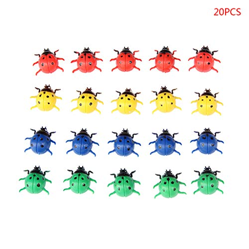 Ningyi683 20pcs Ladybird Ladybug Fridge Magnet Souvenir Cartoon Refrigerator Magnet Magnetic Message Sticker Home Decor