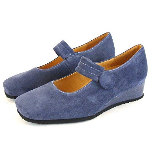 Theresia Muck Harriet - Zapatos de Vestir de cuero Mujer azul - Bleu - Blau (Denim)