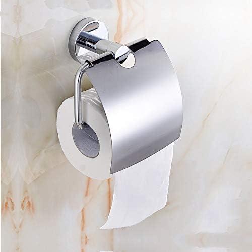OlUM Porte-Papier Toilette avec Couvercle de Rangement Anti-poussi/ère pour Salle de Bain en Acier Inoxydable