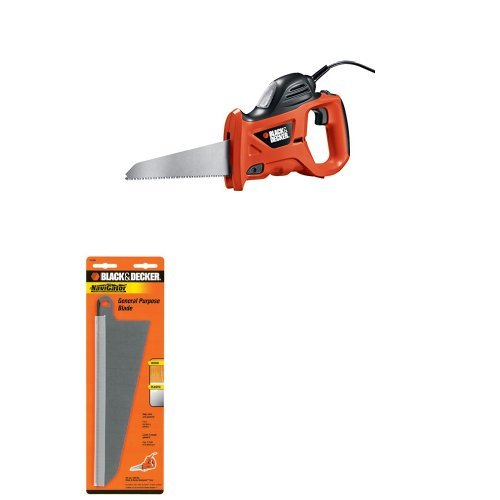 Black & Decker PHS550B 3.4 Amp Powered Handsaw with Storage Bag with 74-591 Large Wood Cutting Blade