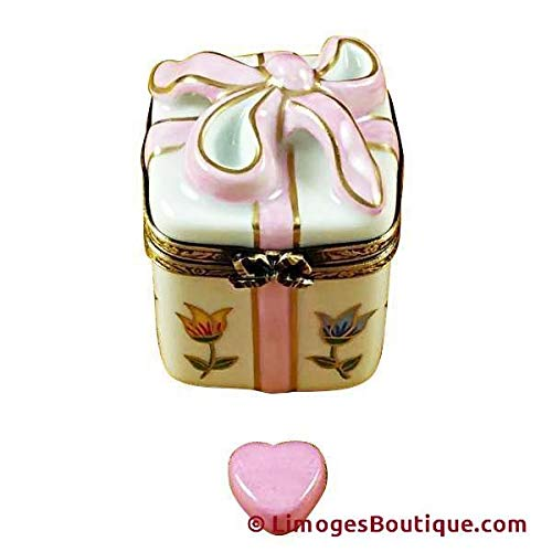 GIFT BOX TULIPS - LIMOGES BOX AUTHENTIC PORCELAIN FIGURINE FROM FRANCE