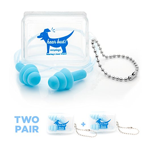 Arms Ear Combat (2-Pack Ear-Plugs by Hear Bud - Quality Deep Sleep , Safety , Comfort , and High Fidelity)