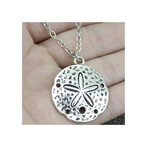 - 35x30mm Sea Urchin Pendant Necklace, Fashion Jewelry Gift For Women,Sea Urchin Jewelry, Ocean Necklace, Ocean Jewelry, Surfer Necklace
