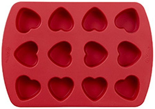 Traditional Candy Mold (Wilton Petite Silicone 12 Cavity Heart Pan)