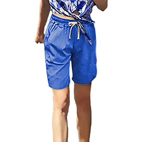 Elegante Corto Costume Abbigliamento Blu Taglie Pantaloni Navy Casual Shorts Donna Larghi Forti Solido Huixin Coulisse Ragazza Estivi wCfE4xqA
