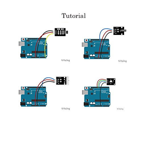 Ivolador 37 in 1 Sensor Modules Kit with Tutorial for Arduino UNO R3