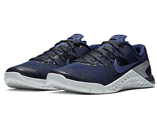 Nike Women's Metcon 4 Metallic Running Sheos (7 B US, College Navy/College Navy/Black) (Rainbow Shoes Nikes)