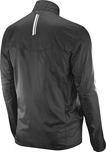 Salomon Men's Agile Wind Jacket, Black, S