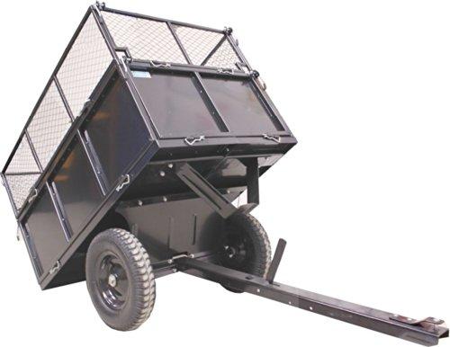Rasentraktor Anhänger 300 kg kippbar Aufsitzmäher Hänger Traktor Kippanhänger