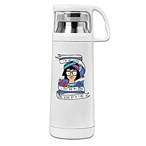 Funny Tina Quote Vacuum Insulated Stainless Steel Coffee/ Water Bottle - Tea Travel Thermos Travel Mug (11.8OZ, White)