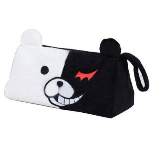 Danganronpa Trigger Happy Monokuma Anime Monokuma Bear Handmade Stuffed Plush Pencil Pouch Case Bag 02