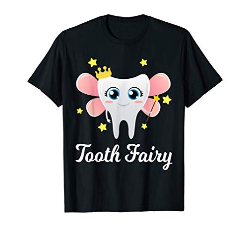 Tooth Fairy Shirt Funny Halloween Costume Gift Dentist Girl T-Shirt
