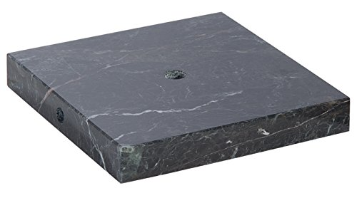 B&P Lamp Square Black Zebra Marble Base (6 Inch)