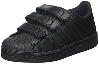adidas Boys' Superstar Foundation CF Shoes, Core Black/Core Black/Core Black, 1 US (1 AU)