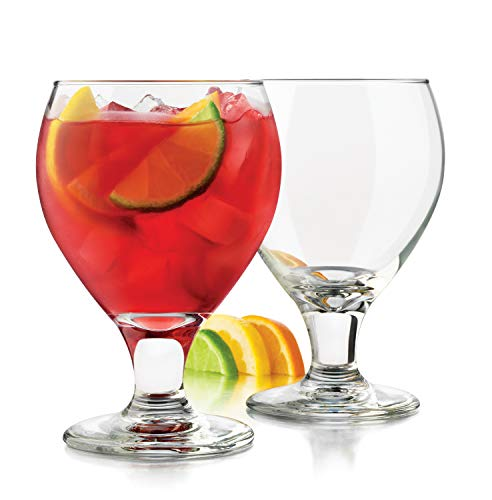 Water Goblets Set of 6 19.25oz LEAD FREE! USA MADE! Great Sangria Glass, Ice Tea, Margarita, Wine & Beer. Real Durable, Resilient, Impressive, Multi Purpose: Daily Use, Holidays, Special Occasion(6)