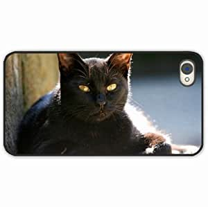 iPhone 4 4S Black Hardshell Case muzzle light Desin Images Protector Back Cover