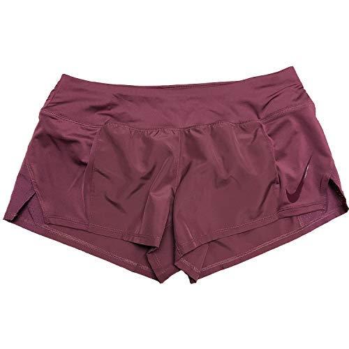 NIKE Women's Dry Running Shorts (Vintage Wine, X-Large)