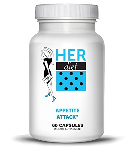HERdiet Appetite Attack for Women Extra Strength Supplement with Appetite Suppressant Pills Stops Hunger Cravings Curb Overeating - Ephedra Appetite Suppressant