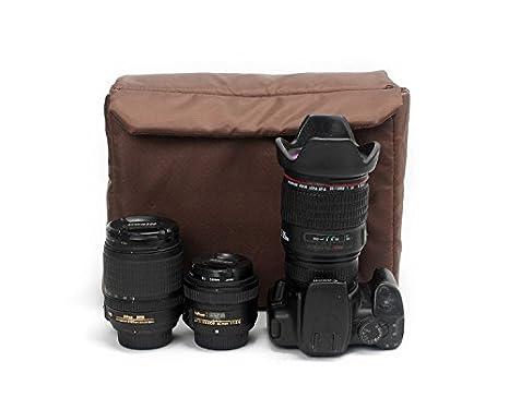 70170e6c749c Amazon.com  Peacechaos Men s Canvas Leather DSLR SLR Vintage Camera  Messenger Bag  Clothing
