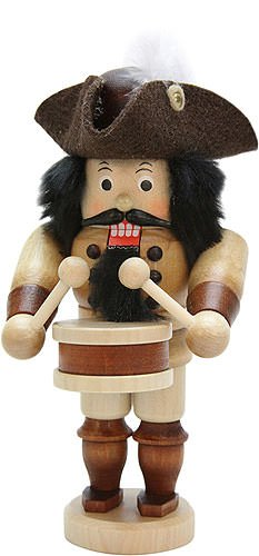 German Christmas Nutcracker Drummer natural - 16,0cm / 6.3inch - Christian Ulbricht