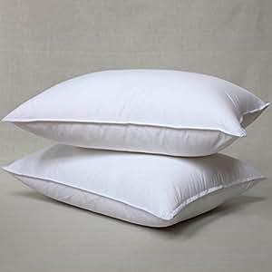 Amazon Com Elliz White Goose Feather And Down Pillow