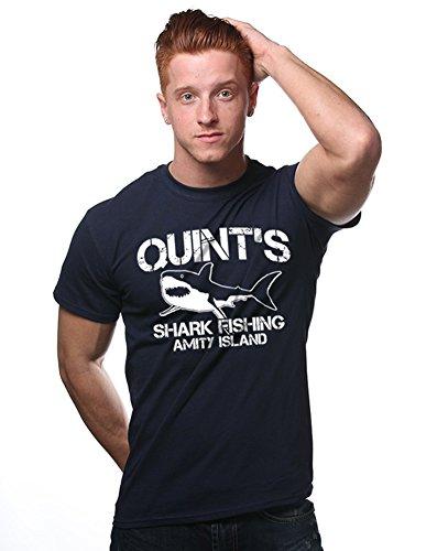 [Quint's Shark Fishing Funny Retro Cult Horror T-Shirt] (Best Cult Halloween Movies)
