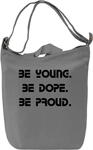 Be Young Borsa Giornaliera Canvas Canvas Day Bag  100% Premium Cotton Canvas  DTG Printing 