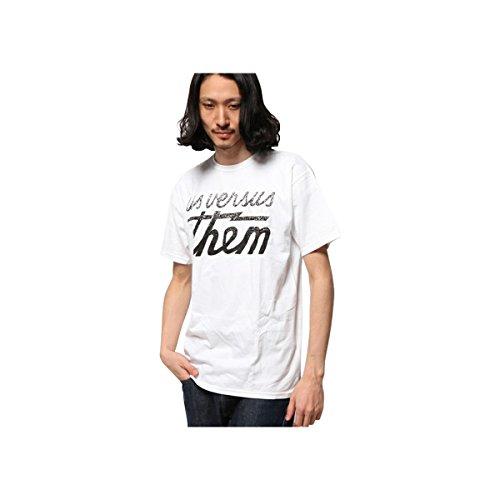 Us Versus Them Mens Point Blank Short-Sleeve Shirt Large White