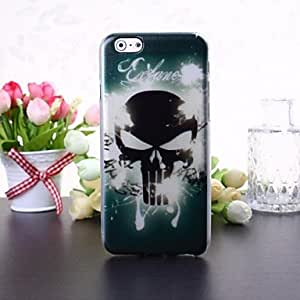 Fashionable Skull Pattern Transparent TPU Soft Case for iPhone 6 Back Cases
