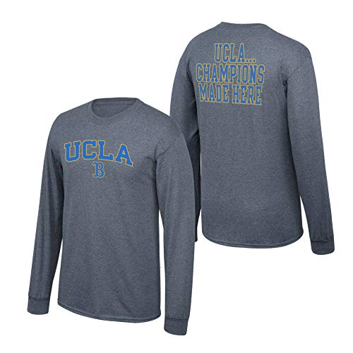 (Elite Fan Shop NCAA Men's Ucla Bruins Long Sleeve Shirt Dark Heather Back Ucla Bruins Dark Heather X Large)