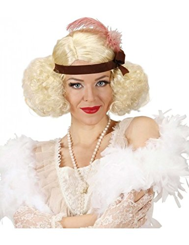 (Blonde Burlesque W/ Headband & Feather Wig For Fancy Dress Costumes &)