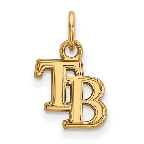 Roy Rose Jewelry 14K Yellow Gold MLB LogoArt Tampa Bay Rays X-small ()