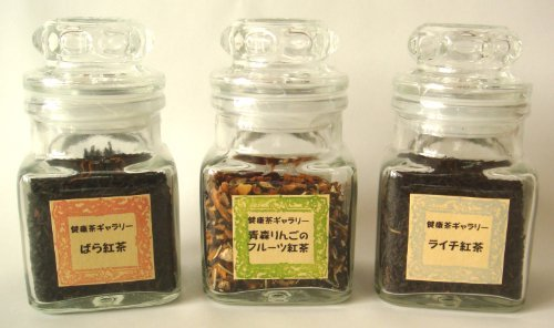 [Tea gift gift] flavor tea three sets (Rose tea and Aomori apples of fruit tea and lychee tea) tea gift tea gift] by Health tea gallery (Image #4)