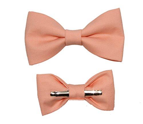 Toddler Boy 3T 4T Peach Clip On Cotton Bow Tie - Peach Toddler Bow Tie